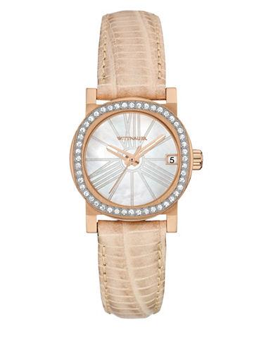 Wittnauer Mini Analog Rose Goldtone Leather Watch-BLUSH-One Size