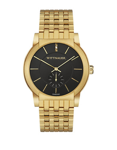 Wittnauer Analog Goldtone Bracelet Watch-GOLD-One Size