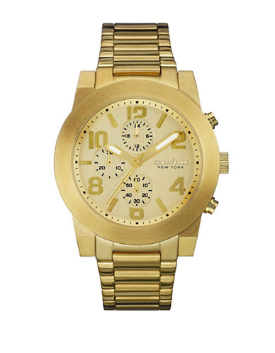 Caravelle New York Chronograph Dress Collection Goldtone Stainless Steel Watch-GOLD-One Size