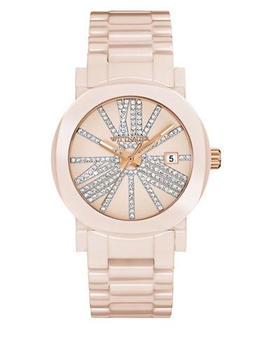 Wittnauer Analog Pave Ceramic Bracelet Watch-PINK-One Size