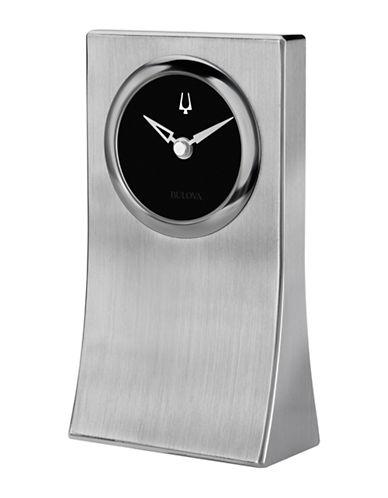 Bulova Obelisk Brushed Tabletop Clock-SILVER-One Size