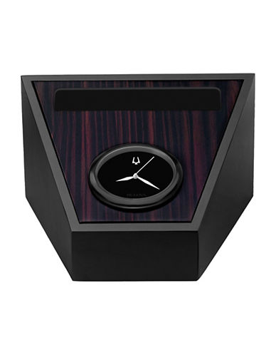 Bulova Executive Table and Mantel Clock-BLACK-One Size