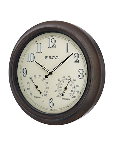 Bulova Weather Master Outdoor Wall Clock-COPPER-One Size