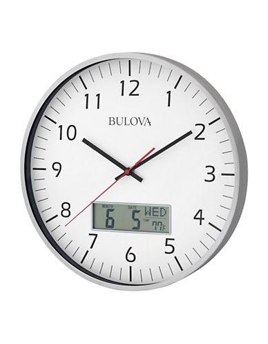Bulova Oversized Wall Clock-SILVER-One Size