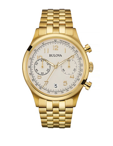 Bulova Classic Goldtone Stainless Steel Chronograph Watch-GOLD-One Size