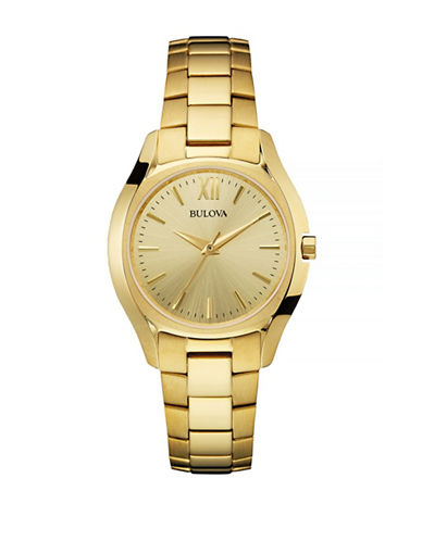 Bulova Classic Goldtone Stainless Steel Watch-GOLD-One Size