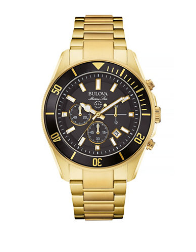 Bulova Marine Star Goldtone Stainless Steel Chronograph Watch-GOLD-One Size
