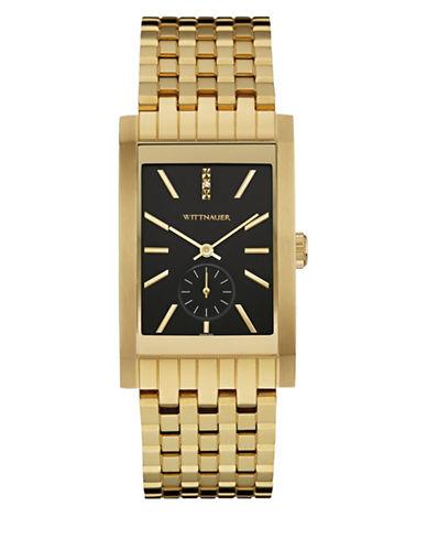 Wittnauer Analog Goldtone Rectangular Bracelet Watch-GOLD-One Size