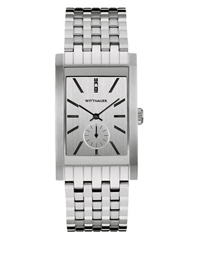 Wittnauer Chronograph Stainless Steel Bracelet Watch-SILVER-One Size