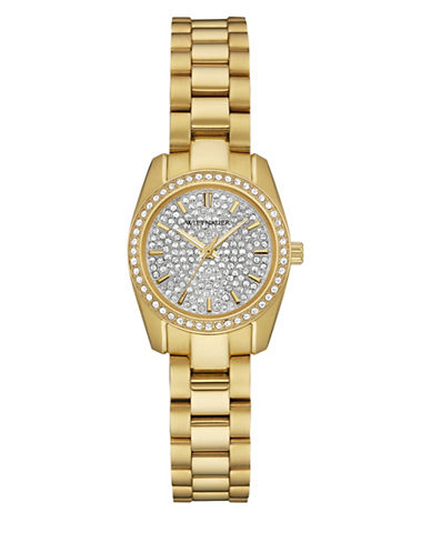 Wittnauer Analog Pavé Goldtone Watch-GOLD-One Size