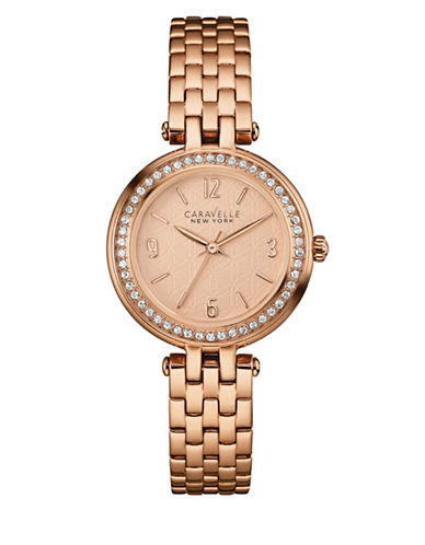 Caravelle New York Three-Hand Sweep Analog The Rose Gold Collection Stainless Steel Bracelet Watch-ROSE GOLD-One Size