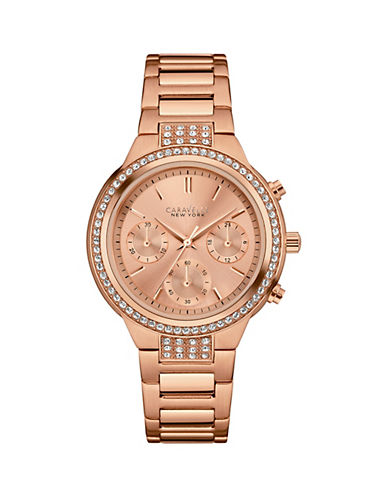 Caravelle New York Chronograph The Rose Gold Collection Stainless Steel Bracelet Watch-ROSE GOLD-One Size
