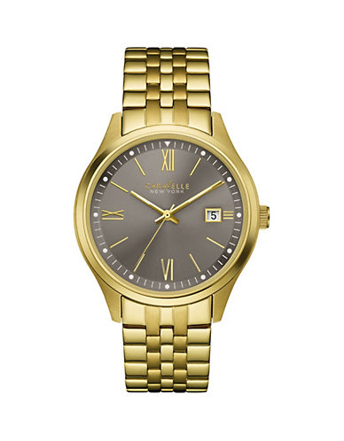 Caravelle New York Analog Dress Collection Goldtone Stainless Steel Bracelet Watch-GOLD-One Size