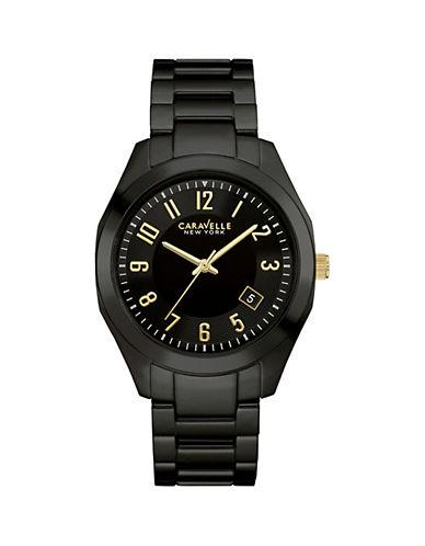 Caravelle New York Analog Gunmetal-Tone Ceramic Bracelet Watch-BLACK-One Size
