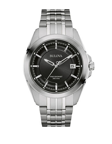 Bulova Analog Precisionist Collection Watch-SILVER-One Size