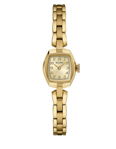 Bulova Analog Classic Collection Goldtone Watch-GOLD-One Size