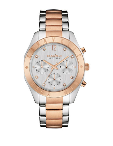 Caravelle New York Chronograph Two-Tone Bracelet Watch-TWO TONE-One Size