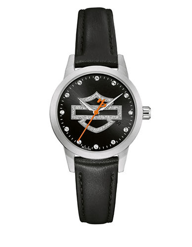 Harley Davidson The Glitter Stainless Steel Analog Watch-BLACK-One Size