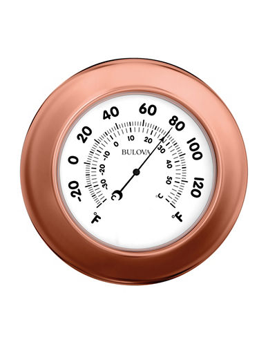 Bulova Wall Clock and Thermometer-COPPER-One Size
