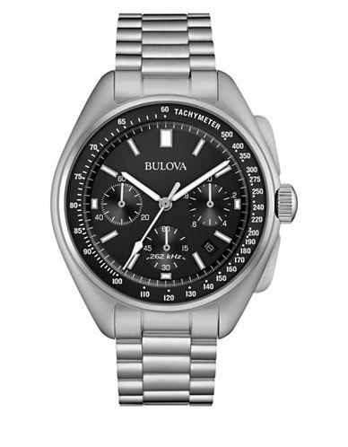 Bulova Chronograph Silvertone Bracelet Watch-SILVER-One Size