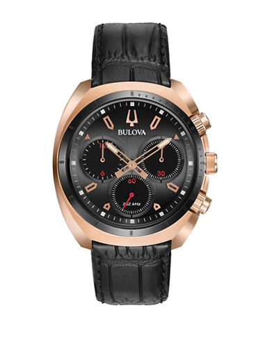 Bulova Curv Chronograph Watch-ROSE GOLD-One Size