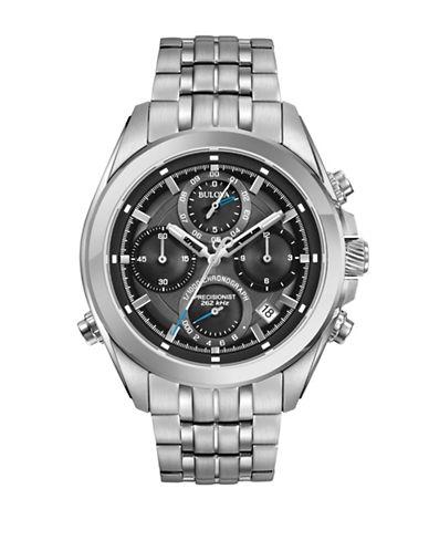 Bulova Chronograph Precisionist Stainless Steel Bracelet Watch-SILVER-One Size