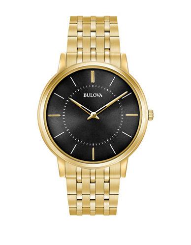 Bulova Analog Classic Collection Goldtone Bracelet Watch-GOLD-One Size