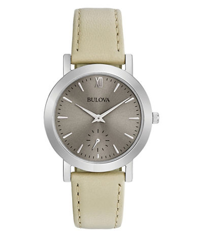 Bulova Analog Stainless Steel Strap Watch-WHITE-One Size