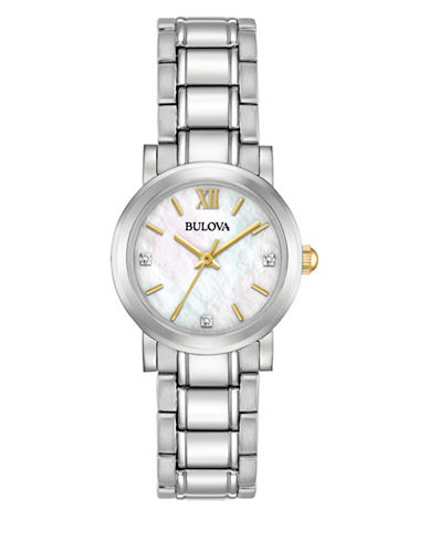 Bulova Mother of Pearl Diamond 98P164 Watch-WHITE-One Size