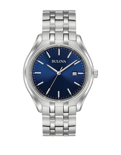 Bulova Stainless Steel Blue Dial 96B268 watch-WHITE-One Size