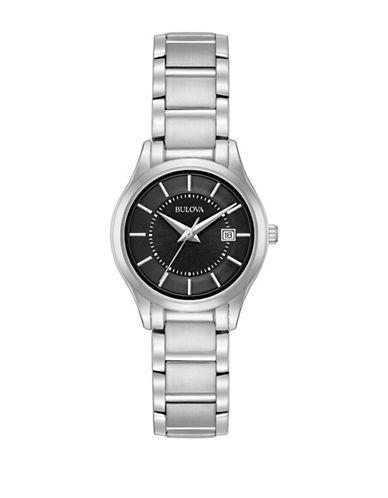 Bulova Analog Classic Stainless Steel Bracelet Watch-SILVER-One Size