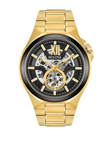 Bulova Analog Open Dial Stainless Steel Watch-GOLD-One Size