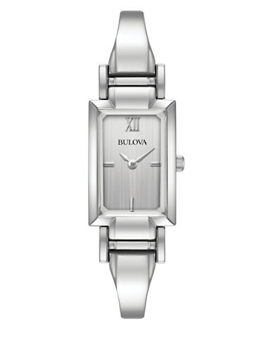 Bulova Analog Classic Stainless Steel Bracelet Watch-SILVER-One Size