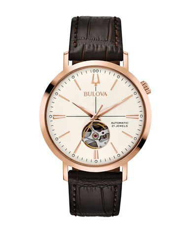 Bulova Classic Automatic 97A136 Strap Watch-ROSE GOLD-One Size