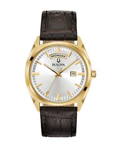Bulova Classic 97C106 Strap Watch-GOLD-One Size