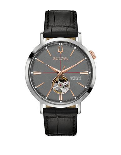 Bulova Classic Automatic 98A187 Strap Watch-SILVER-One Size