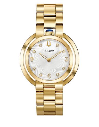 Bulova Rubaiyat Collection Goldtone Stainless Steel Link Bracelet Watch-GOLD-One Size
