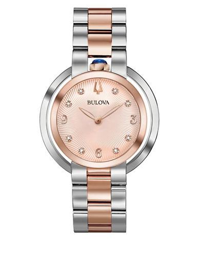 Bulova Rubaiyat Collection Rose Goldtone Bracelet Watch-MULTI-One Size