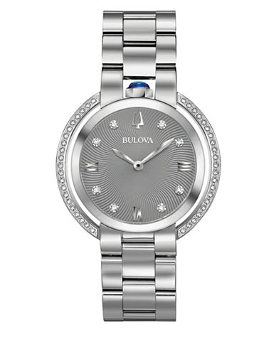Bulova Rubaiyat Collection Stainless Steel Bracelet Watch-WHITE-One Size