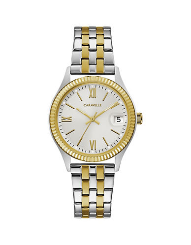 Caravelle New York Two-Tone Stainless Steel Bracelet Watch-MULTI-One Size