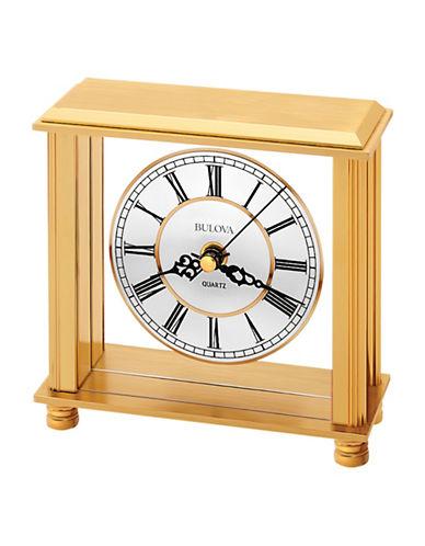 Bulova Cheryl Brass Table Clock-GOLD-One Size