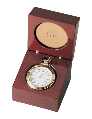 Bulova Ashton Pocket Watch-MAHOGANY-One Size