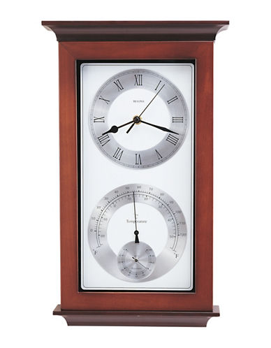 Bulova Yarmouth Wood Wall Clock-CHERRY-One Size