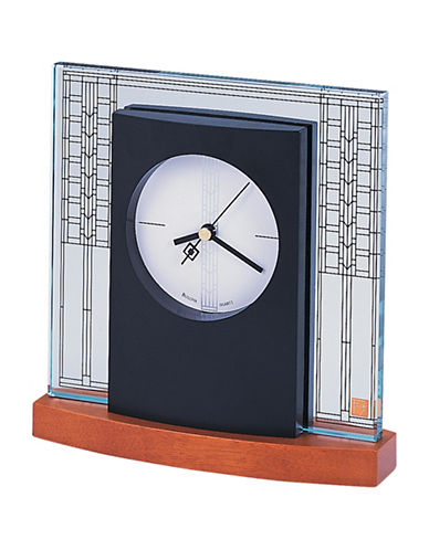 Bulova Glasner House Glass Table Clock-BLACK-One Size 88452579_BLACK_One Size