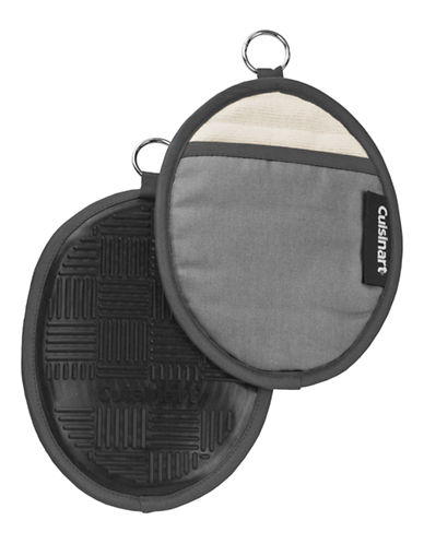 Cuisinart Silicone Oval Pot Holder-GREY-One Size