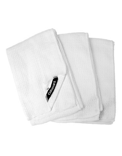 Cuisinart Three-Pack Microfibre Towels-WHITE-One Size