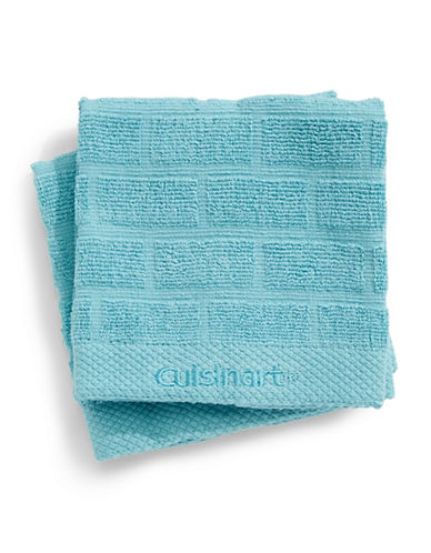 Cuisinart Tile Two-Piece Cotton Dish Cloth Set-SAGE-One Size