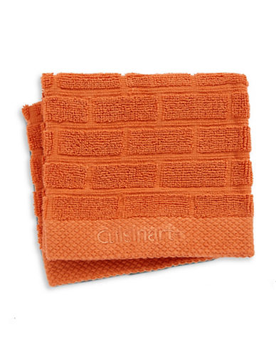 Cuisinart Tile Two-Piece Cotton Dish Cloth Set-ORANGE-One Size