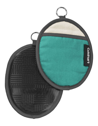 Cuisinart Silicone Oval Pot Holder-AQUA-One Size