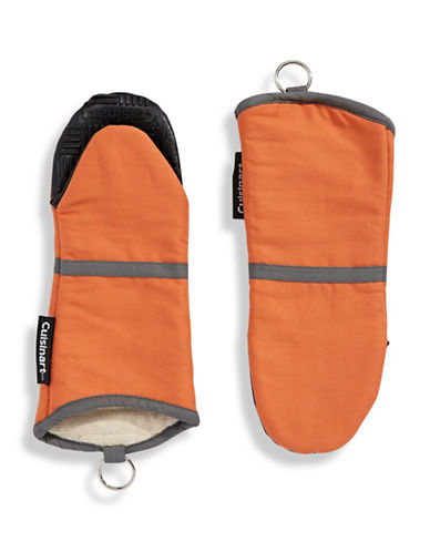 Cuisinart Two-Pack Silicone Oven Mitts-ORANGE-One Size